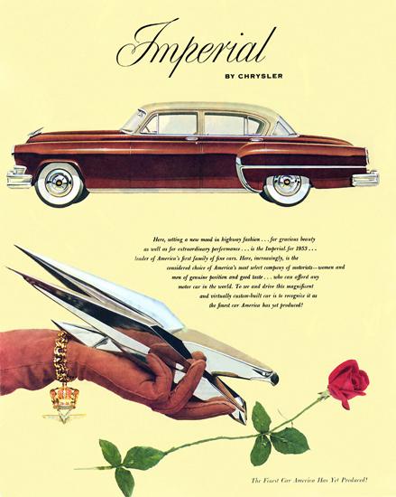 Chrysler Imperial 1953 Rose | Vintage Cars 1891-1970