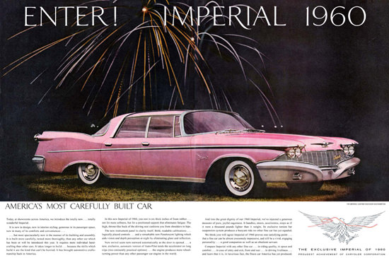 Chrysler Imperial 1960 Pink New Year | Vintage Cars 1891-1970