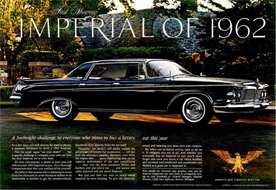 Chrysler Imperial 1962 Black Forthright Challenge | Vintage Cars 1891-1970