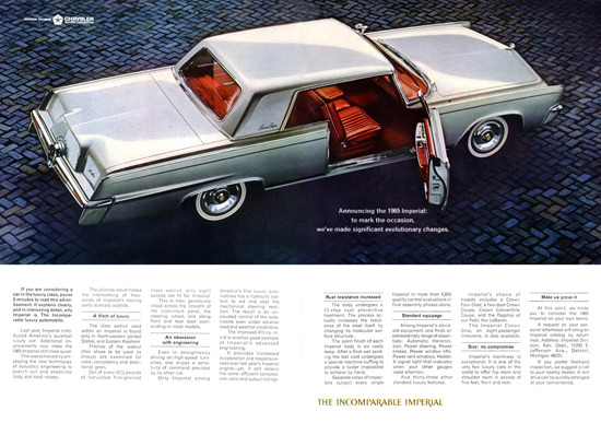 Chrysler Imperial 1965 Incomparable Silver | Vintage Cars 1891-1970