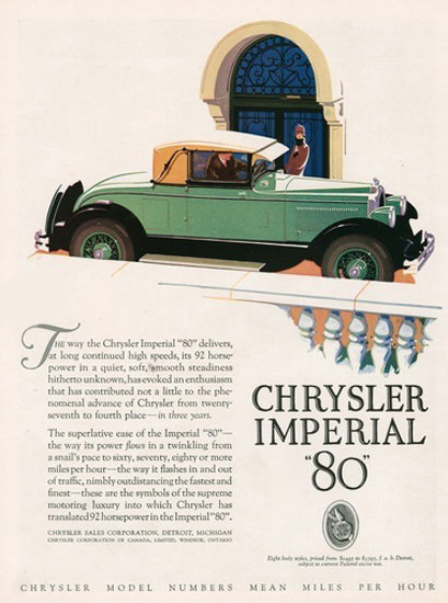 Chrysler Imperial 80 Automobile Green | Vintage Cars 1891-1970
