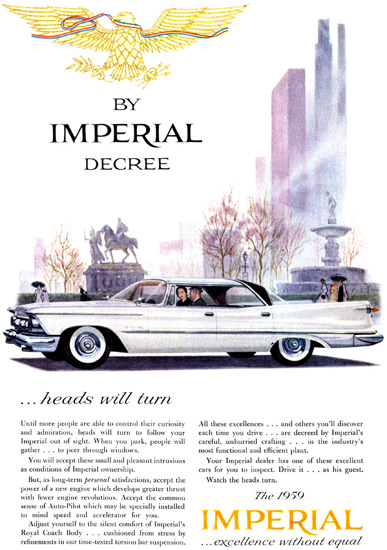 Imperial Crown Decree 1959 Heads Will Turn | Vintage Cars 1891-1970