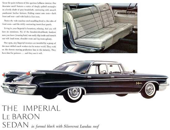 Chrysler Imperial Le Baron Sedan Black Silver | Vintage Cars 1891-1970