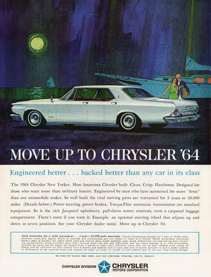 Chrysler New Yorker 1964 Harbor Sunset | Vintage Cars 1891-1970