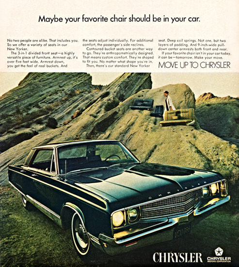 Chrysler New Yorker 1968 Your Favorite Chair | Vintage Cars 1891-1970
