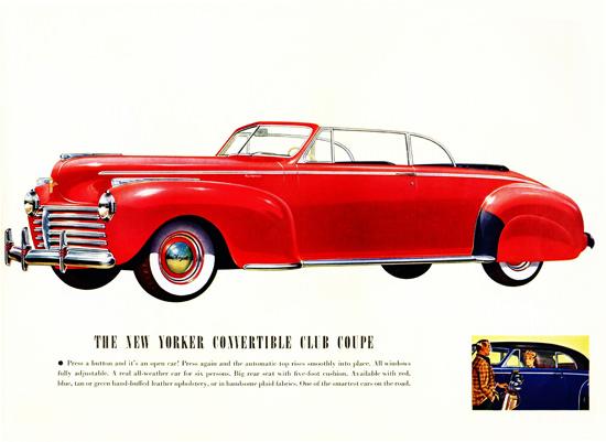 Chrysler New Yorker Convertible Club 1941 | Vintage Cars 1891-1970