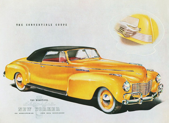 Chrysler New Yorker Convertible Coupe 1940 | Vintage Cars 1891-1970