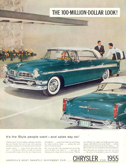 Chrysler New Yorker DeLuxe Newport 1955 | Vintage Cars 1891-1970