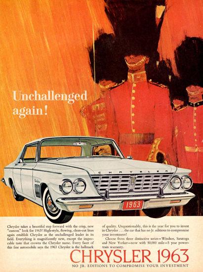 Chrysler New Yorker Hardtop Canada 1963 | Vintage Cars 1891-1970