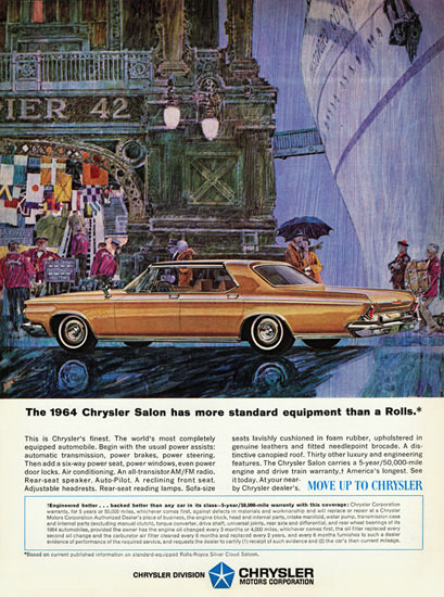 Chrysler New Yorker Salon 1964 More Than A Rolls | Vintage Cars 1891-1970