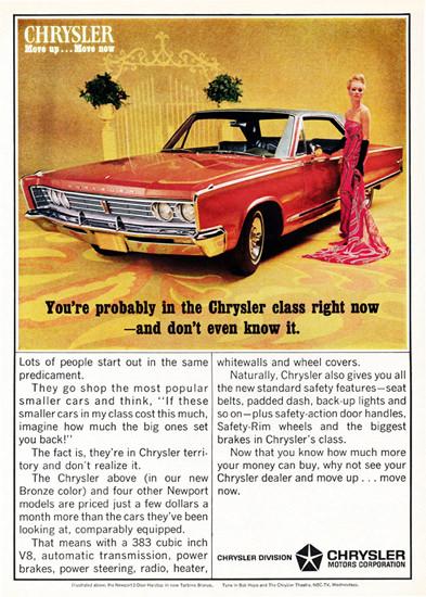 Chrysler Newport V8 1966 Move Up Move Now | Vintage Cars 1891-1970