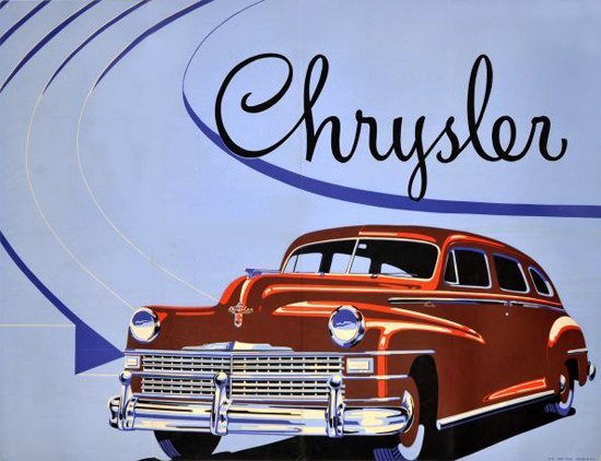 Chrysler Poster 1946 | Vintage Cars 1891-1970