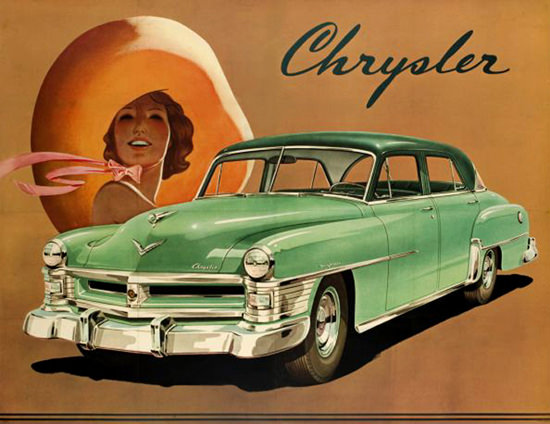 Chrysler Poster 1950s | Sex Appeal Vintage Ads and Covers 1891-1970