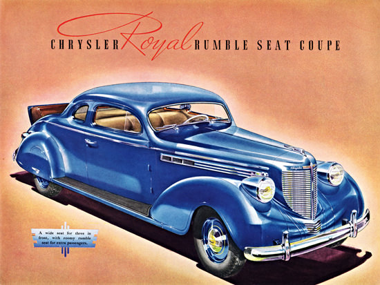 Chrysler Royal Rumble Seat Coupe 1938 | Vintage Cars 1891-1970
