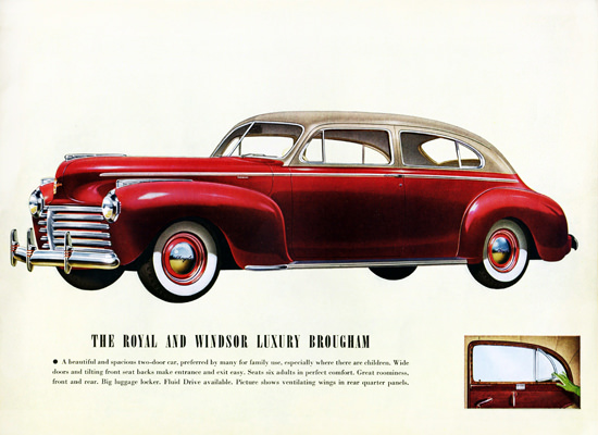 Chrysler Royal Windsor Luxury Brougham 1941 | Vintage Cars 1891-1970