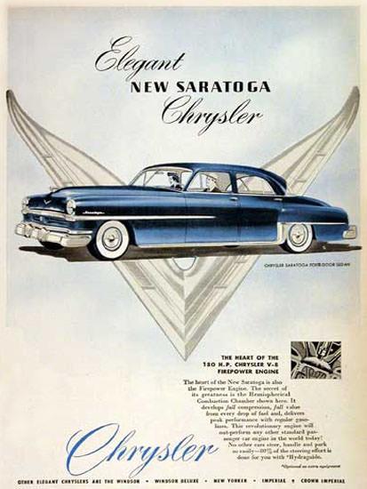 Chrysler Saratoga 1952 Elegant Blue | Vintage Cars 1891-1970