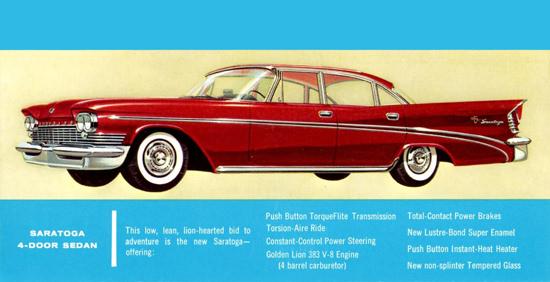 Chrysler Saratoga 1959 Golden Lion 383 V8 | Vintage Cars 1891-1970