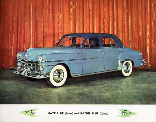 Chrysler Sedan 1950 In Haze Blue N Racine Blue | Vintage Cars 1891-1970