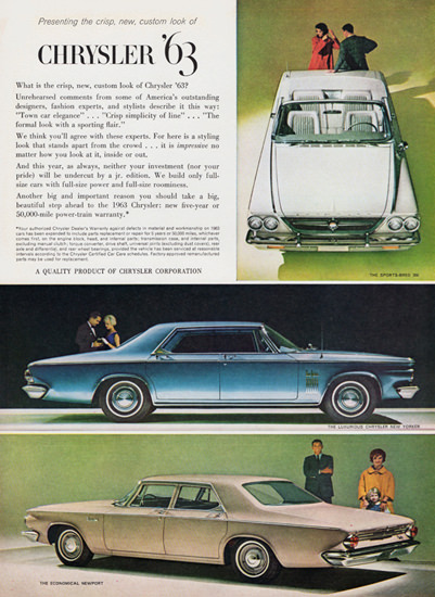 Chrysler Sport Bred 300 New Yorker Newport 1963 | Vintage Cars 1891-1970