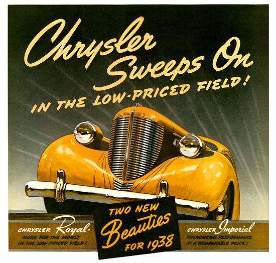 Chrysler Sweeps On Royal Imperial 1938 | Vintage Cars 1891-1970