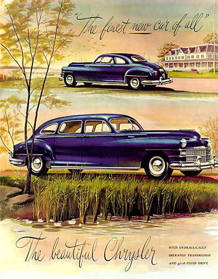 Chrysler The Beautiful Blue 1946 | Vintage Cars 1891-1970