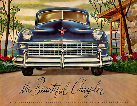 Chrysler The Beautyful Fluid-Drive Blue | Vintage Cars 1891-1970