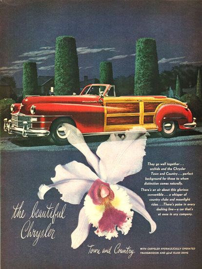 Chrysler Town And Country Convertible 1946 | Vintage Cars 1891-1970
