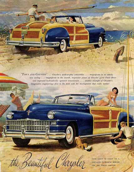 Chrysler Town and Country 1946 Ad | Vintage Cars 1891-1970