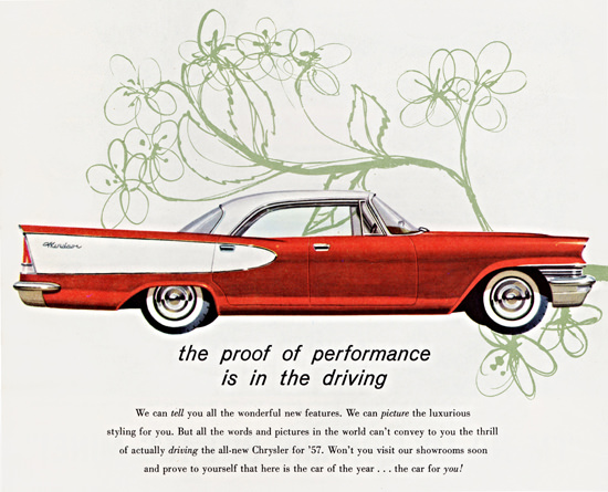 Chrysler Windsor 1957 Proof Of Performance | Vintage Cars 1891-1970