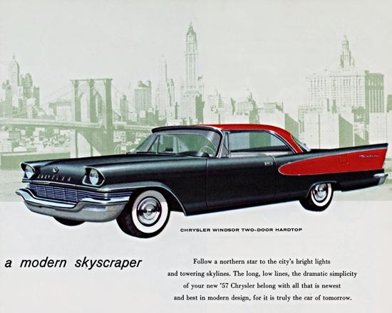 Chrysler Windsor Hardtop 1957 Skyscraper | Vintage Cars 1891-1970
