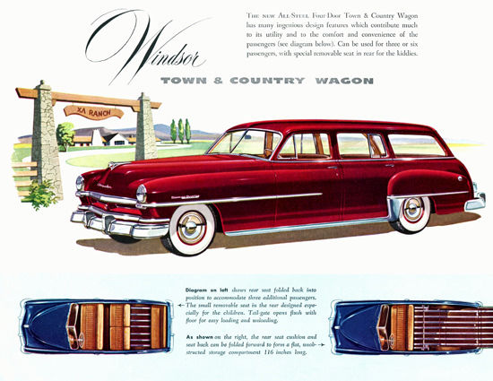 Chrysler Windsor Town N Country Wagon 1951 | Vintage Cars 1891-1970