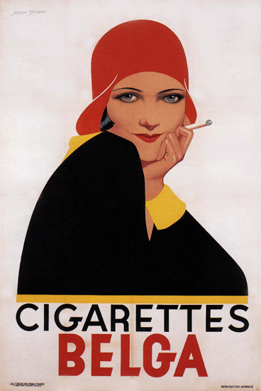 Cigarettes Belga Girl Belgium | Sex Appeal Vintage Ads and Covers 1891-1970