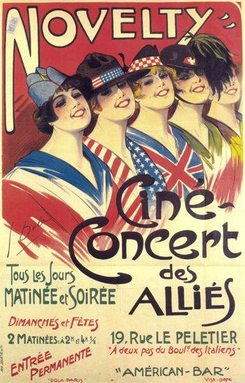 Cine Concert Des Allies France Cinema Concert | Sex Appeal Vintage Ads and Covers 1891-1970