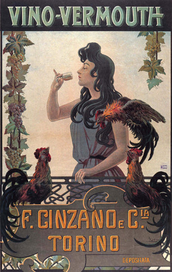 Cinzano Vino-Vermouth Torino Italy Italia | Sex Appeal Vintage Ads and Covers 1891-1970
