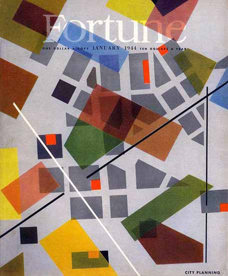 City Planning Fortune Magazine January 1944 Copyright | Fortune Magazine Graphic Art Covers 1930-1959