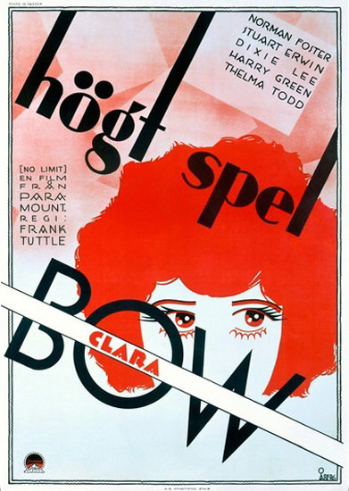 Clara Bow Hoegt Spel Film Norman Foster   Vintage Ad and Cover Art 1891-1970