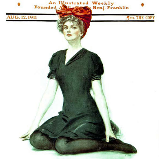 Clarence F Underwood Saturday Evening Post 1911_08_12 Copyright crop | Best of Vintage Cover Art 1900-1970