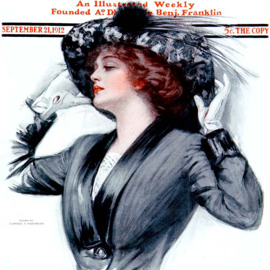 Clarence F Underwood Saturday Evening Post 1912_09_21 Copyright crop | Best of Vintage Cover Art 1900-1970