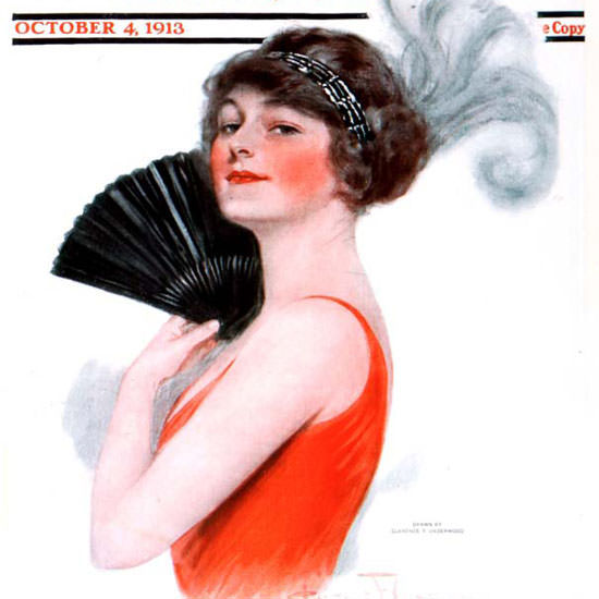 Clarence F Underwood Saturday Evening Post 1913_10_04 Copyright crop | Best of Vintage Cover Art 1900-1970