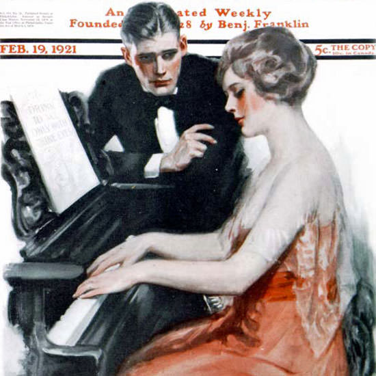 Clarence F Underwood Saturday Evening Post 1921_02_19 Copyright crop | Best of 1920s Ad and Cover Art