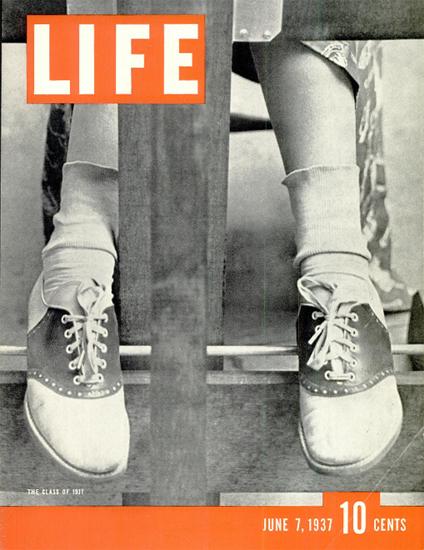 Class of 1937 7 Jun 1937 Copyright Life Magazine | Life Magazine BW Photo Covers 1936-1970