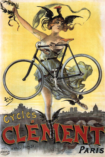 Clement Cycles Paris France | Sex Appeal Vintage Ads and Covers 1891-1970