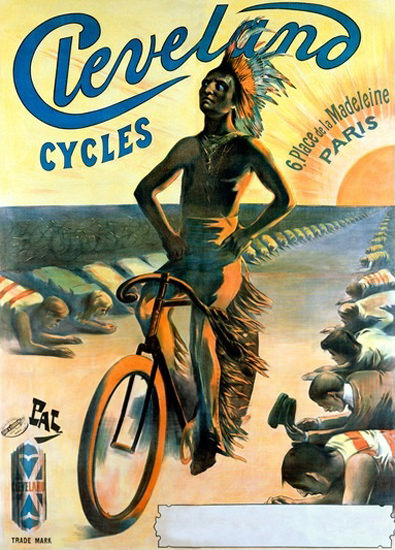 Cleveland Cycles Indian Paris Jean De Paleologue | Vintage Travel Posters 1891-1970