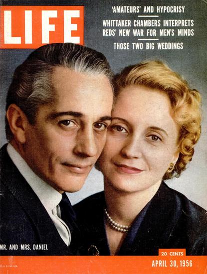 Clifton Daniel and Margaret Truman 30 Apr 1956 Copyright Life Magazine   Life Magazine Color Photo Covers 1937-1970