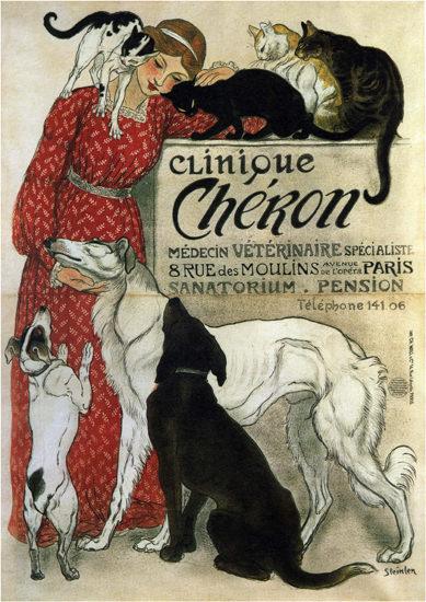 Clinique Cheron Medecin Veterinaire Paris   Sex Appeal Vintage Ads and Covers 1891-1970