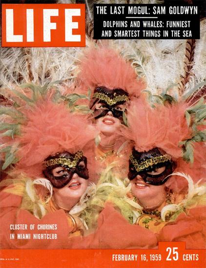Cluster of Chorines Miami Nightclub 16 Feb 1959 Copyright Life Magazine | Life Magazine Color Photo Covers 1937-1970