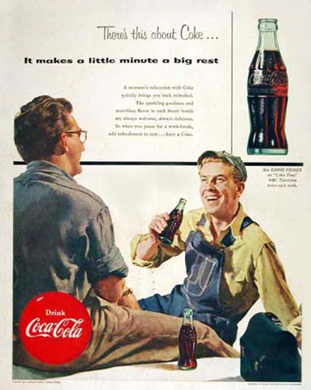 Coca-Cola 1954 Workbreak | Vintage Ad and Cover Art 1891-1970