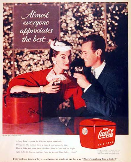 Coca-Cola 1955 Shopping Almost Everyone | Sex Appeal Vintage Ads and Covers 1891-1970