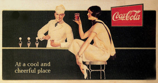 Coca-Cola At A Cool And Cheerful Place | Sex Appeal Vintage Ads and Covers 1891-1970