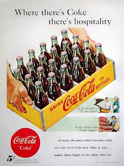 Coca-Cola By The Case 1948 | Vintage Ad and Cover Art 1891-1970